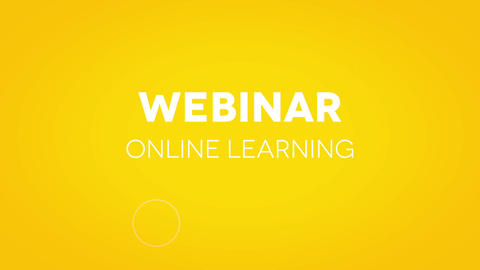 Webinar-Abstract Title Animation
