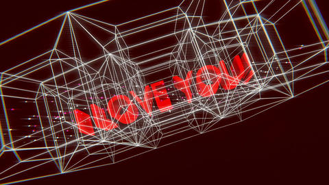 I love you-Wireframe Outro Animation