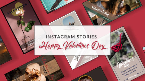 Instagram Stories: Happy Valentines Day After Effects Template