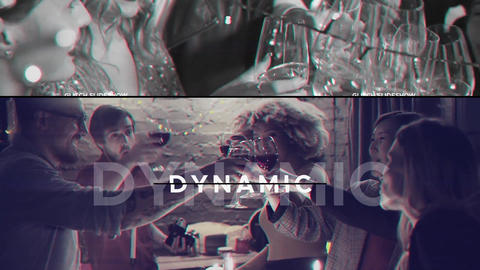 Dynamic Glitch Slideshow After Effects Template