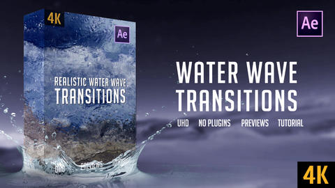 Water Wave Transitions | 4K After Effects Template
