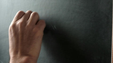 Man writing ABC alphabet letters on a chalkboard Live Action