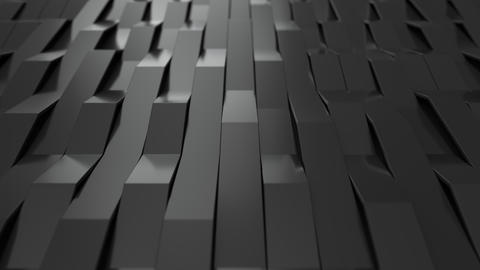 1048 3D rendering of black gloss plastic waves GIF