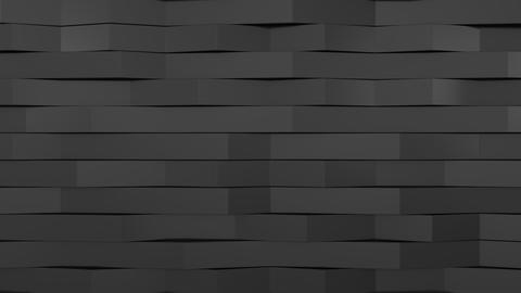 1047 3D rendering of black gloss plastic waves Live Action