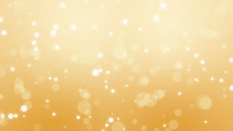 Glowing golden bokeh particle background Animation