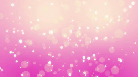 Glowing pink yellow particle background Animation