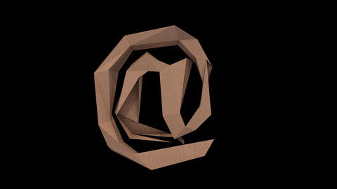 Animated low polygon cardoard typeface cb at Animation