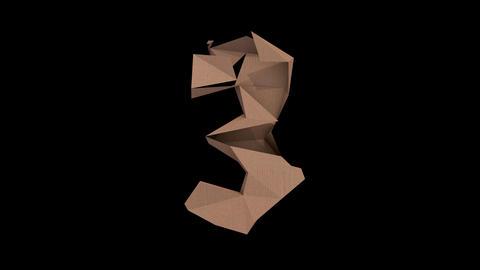 Animated low polygon cardoard typeface 3 cb Animation