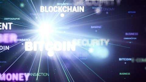 E-Commerce Blockchain Words Fast Loop Connection Live Action