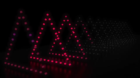 1980's Style 3D triangle background loop Animation