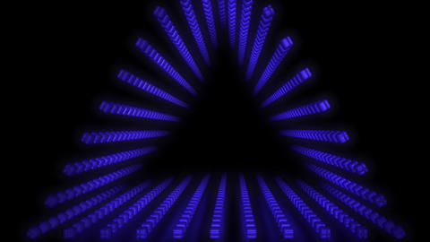 Cool 3D 1980s Triangle Background In Neon Colors Animation