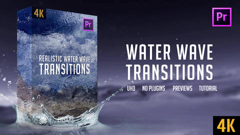 Water Wave Transitions | 4K Premiere Pro Template