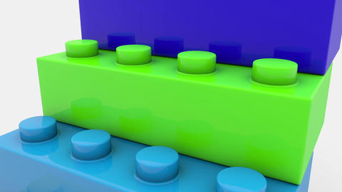 Toy blocks in various colors Animation