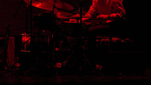 1080p Drummer Man / Drum Set / Playing Drums Live Action