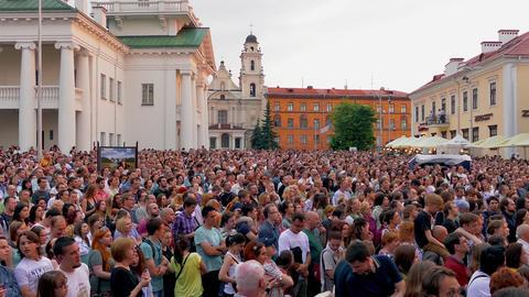 Huge Crowd at Concert Footage