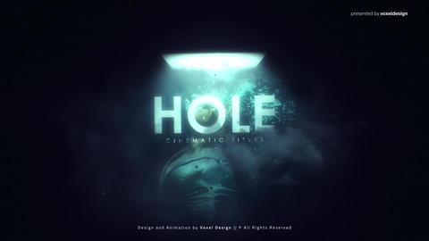 HOLE Cinematic Titles After Effects Template