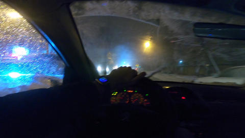 Driving In Snowy Street ライブ動画