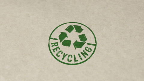 Recycling stamp and stamping animation Animation