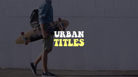 Urban Titles Apple Motion Template