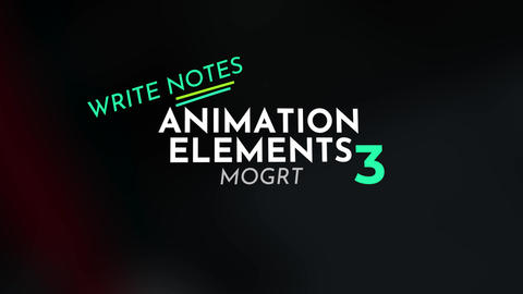 Animation Elements Motion Graphics Template