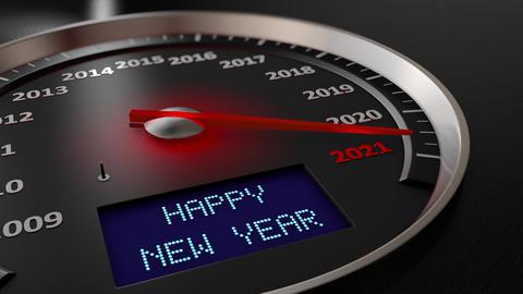 Speedometer Happy New Year 2021 GIF