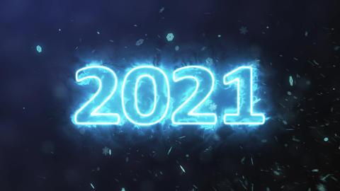 Number 2021 plasma GIF