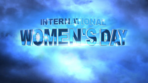 383 3d animated template for INTERNATIONAL WOMENs DAY Animation