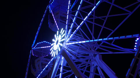 Ferris Wheel Night Illumination Live Action