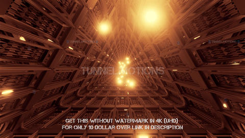glowing spheres flying through triangle technical tunnel corridor 3d Animation