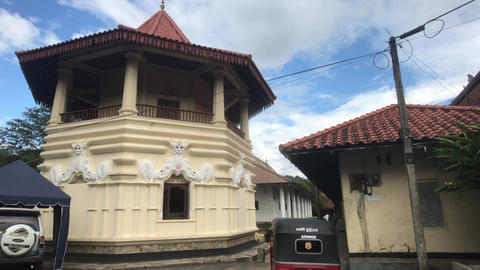 Kandy, Sri Lanka, a structure on the temple grounds Live Action