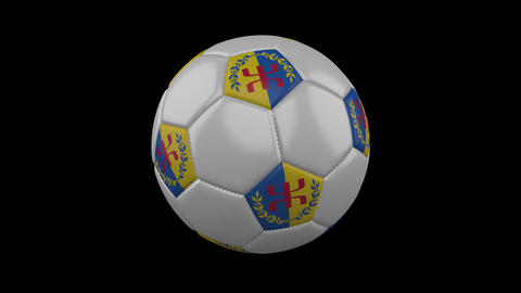 Kabylia flag on a ball rotates on a transparent background, alpha channel loop Animation