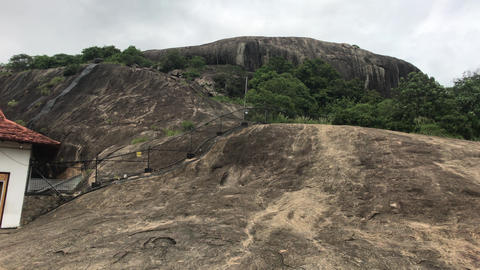 Dambulla, Sri Lanka, part of the structure near the temple Live Action