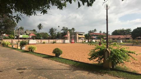 Negombo, Sri Lanka, November 23, 2019, St. Sebastian Church, church grounds view Live Action