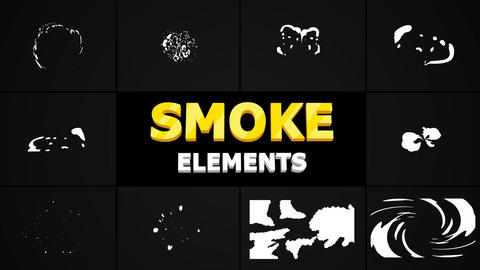 Hand-Drawn Cartoon Smoke Apple Motion Template