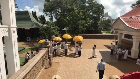 Anuradhapura, Sri Lanka, event in temple 5 part Live Action