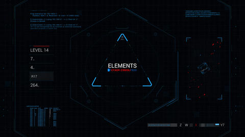Futuristic elements HUD user interface 4k - DDOS Animation