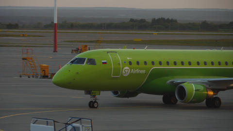 S7 Embraer taxiing after landing GIF