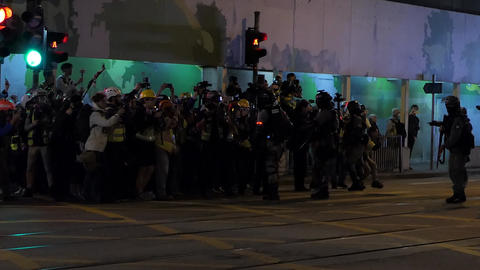 Hong Kong Protest Police - 14 Live Action