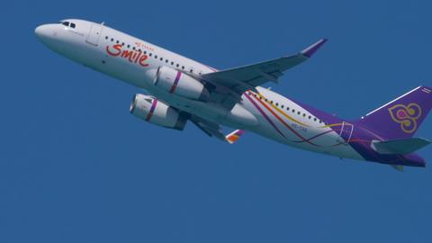 Airplane Airbus 320 climb GIF