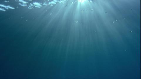 水面の太陽〜水中1 Footage