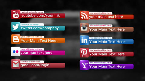 Social Medai Lower Thirds After Effects Template