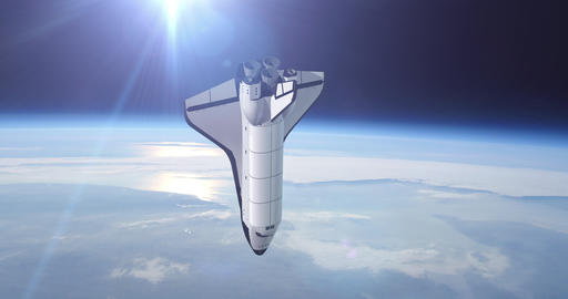 Space Shuttle Orbiting Earth Footage