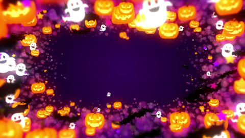 Halloween party,Frame,Purple,CG Animation,Loop CG動画