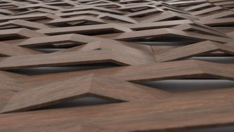 1072 3D rendering of wooden gloss plastic waves Live Action