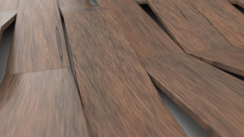 1073 3D rendering of wooden gloss plastic waves GIF