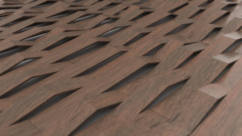 1070 3D rendering of wooden gloss plastic waves Live Action