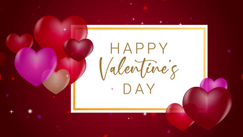 ValentineDayParticleTitle Motion Graphics Template