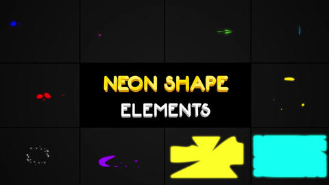 Neon Shape Elements Apple Motion Template