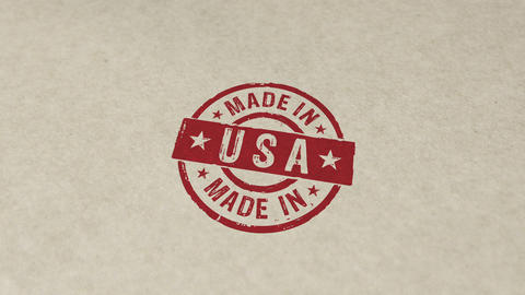 Made in USA stamp and stamping animation Animation