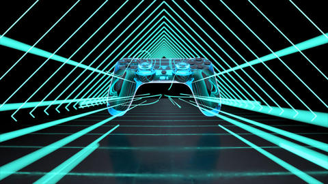 Abstract technological background of video games Animation
